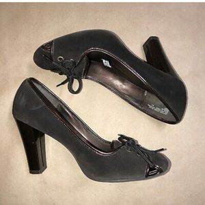 Mossimo Faux Suede Heels w/ Tie Up Detail